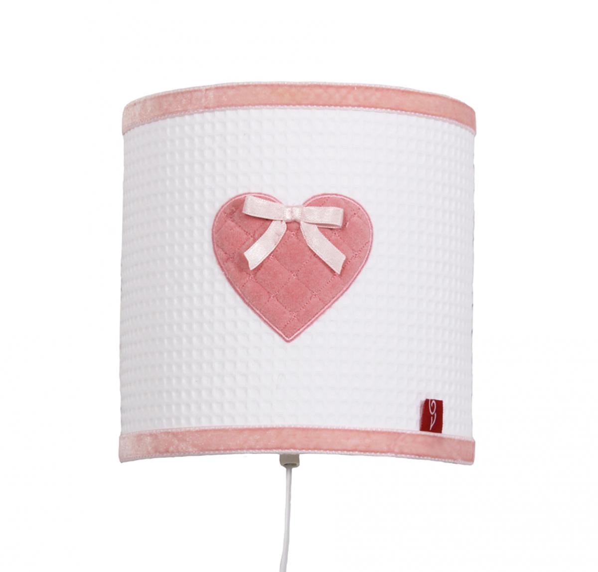 Little Tulip eco Wandlamp lamp roze hart luxe exclusief kinderkamer babykamer lamp  babyuitzet lief oudroze