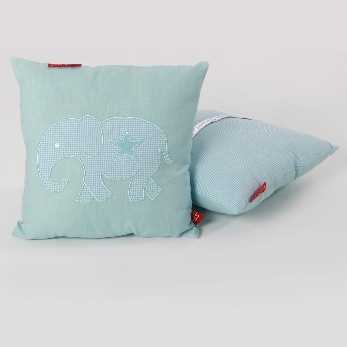 Kussen Blauw Wit.Knuffelkussen Olifant