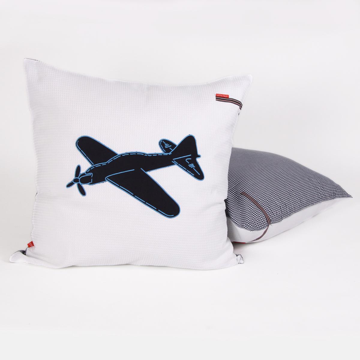 Little Tulip eco loungekussen vliegtuig voertuigen dekbed laken plane bed blauw wit marine babykamer meisje jongen unisex babyuitzet kinderkamer steigerhout woonkamer woonaccessoire accessoire