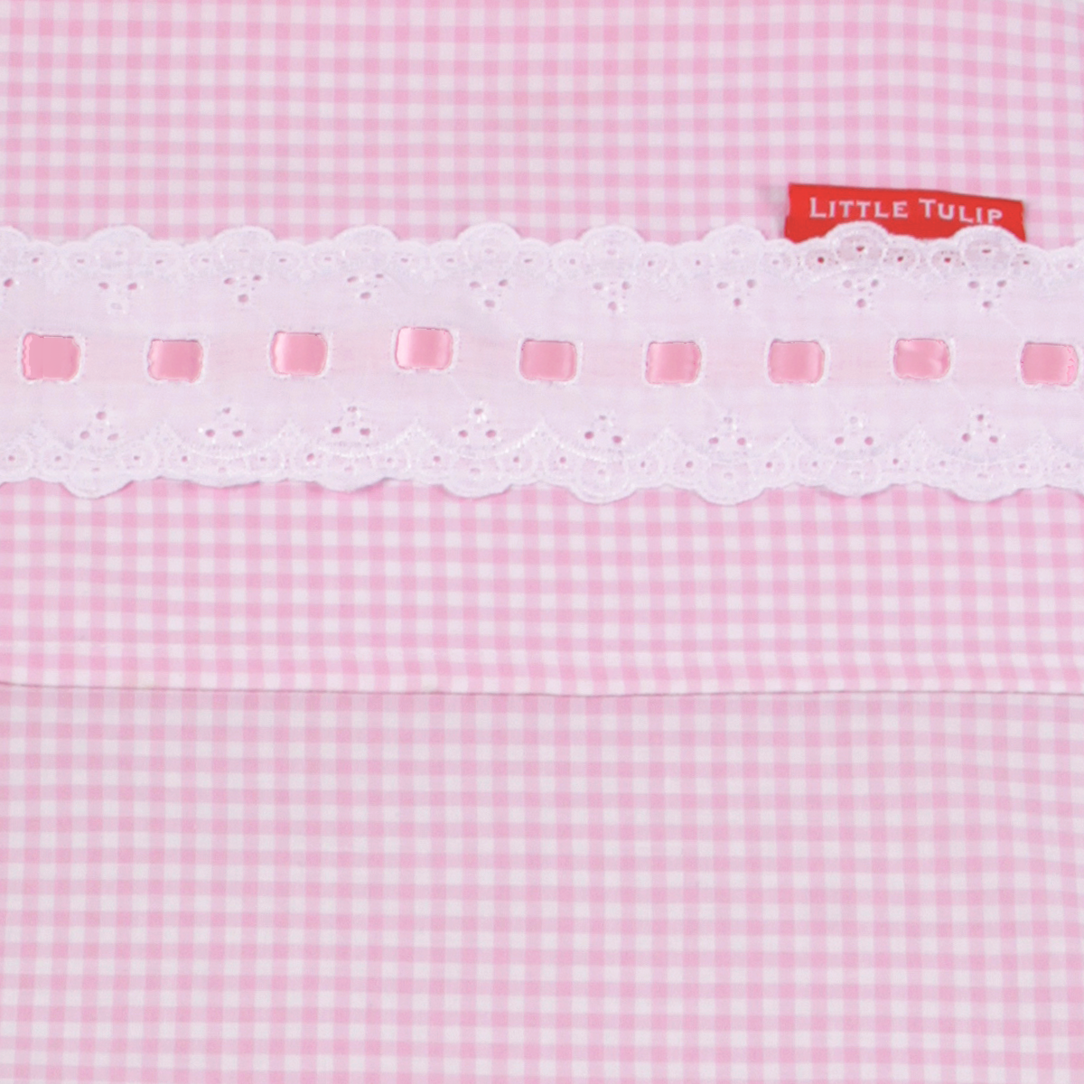 Dekbedovertrek Roze Ruit  Dekbedovertrek ledikant roze ruit met hartjes  Roze dekbedovertrek