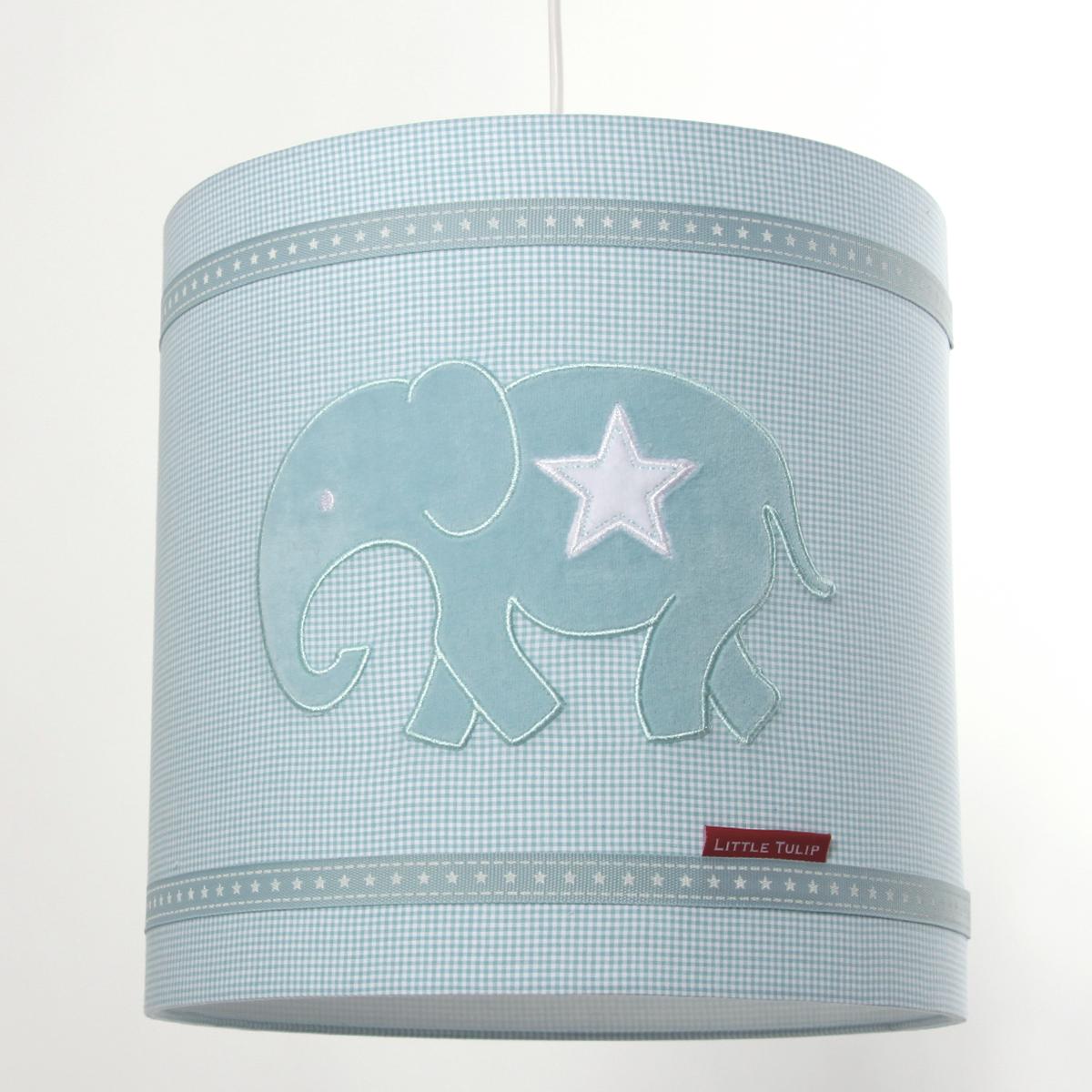 Little tulip Hanglamp olifant aqua blauw ster eco lief kinderkamer babykamer babyuitzet unisex jongen meisje steigerhout