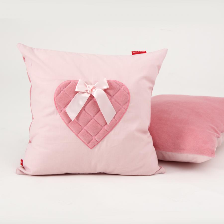 Verrassend Little Tulip Shop - Sierkussen roze hart ZQ-58