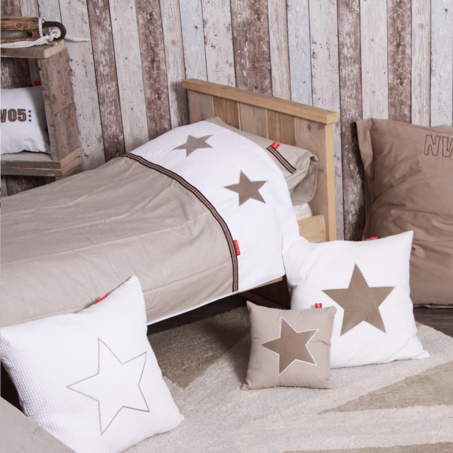 Little tulip shop dekbedovertrekset beige sterren - Babykamer beige en wit ...