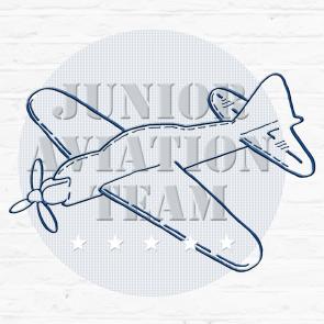 Little Tulip muursticker vliegtuig eigen naam, blauw wit marine plane babykamer meisje jongen unisex babyuitzet kinderkamer steigerhout