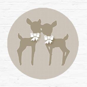 Little tulip muursticker beige hertjes naturel bambi deer herfst lief dekbed bed ledikant wieg laken kinderkamer babykamer babyuitzet meisje unisex jongen steigerhout strikjes
