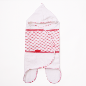 Baby badcape rood