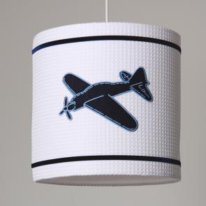 Little Tulip eco hanglamp vliegtuig wit voertuigen plane ster bed blauw wit marine babykamer meisje jongen unisex babyuitzet kinderkamer steigerhout woonaccessoire lamp accessoire