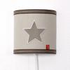 Wandlamp beige ster