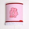 Wandlamp dutch roze