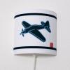 Wandlamp vliegtuig wit