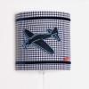 Wandlamp vliegtuig blauw