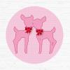 Muursticker roze hertjes