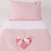 Dekbedovertrekset roze hart