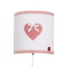 Wandlamp roze hart