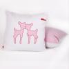 Loungekussen roze hertjes