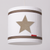 Hanglamp beige ster