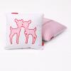 Knuffelkussen roze hertjes
